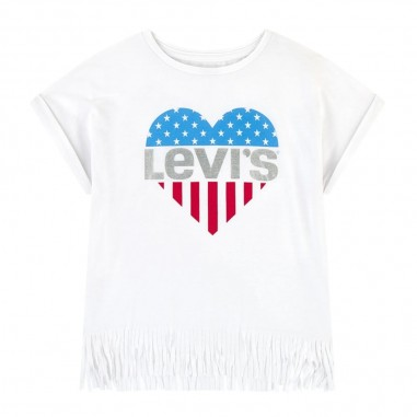 Levi's Girls Fringed T-Shirt - Levi's lk3ea8473ea847-levis20