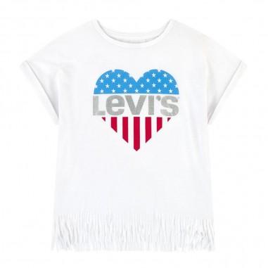 Levi's T-Shirt Bambina Frange - Levi's lk3ea8473ea847-levis20