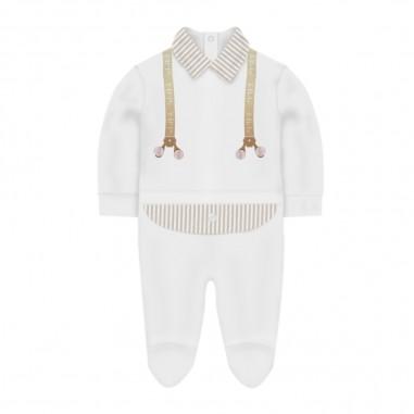 Le Bebé White & Ecru Babysuit - Le Bebé lbb2537-lebebe20