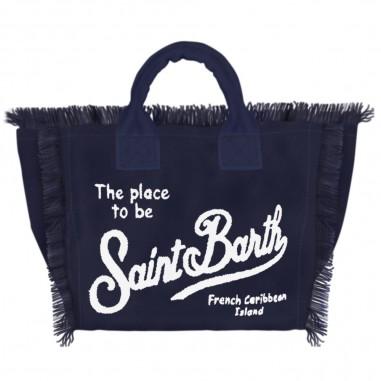 Mc2 Saint Barth Blue Canvas Beach Bag - Mc2 Saint Barth col0001-indigo-mc2saintbarth20