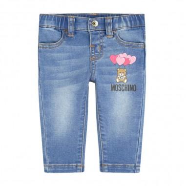 Moschino Kids Baby Girls Blue Jeans - Moschino Kids mdp02glde03-moschinokids20