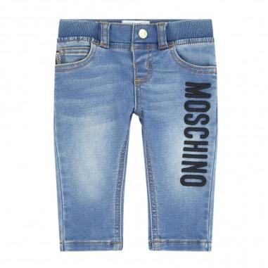 Moschino Kids Jeans Neonato Logo - Moschino Kids mup03elde03-moschinokids20