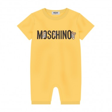 Moschino Kids Baby Yellow Romper - Moschino Kids mut01ilaa08-51633-moschinokids20