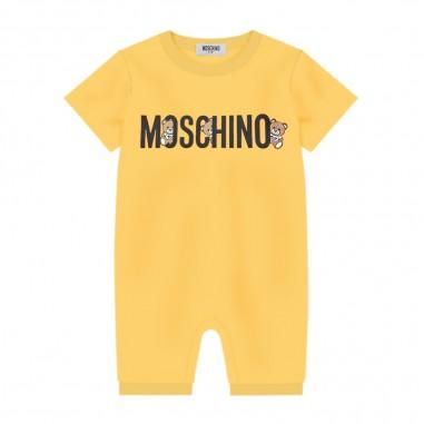 Moschino Kids Pagliaccetto Giallo Scritta - Moschino Kids mut01ilaa08-51633-moschinokids20