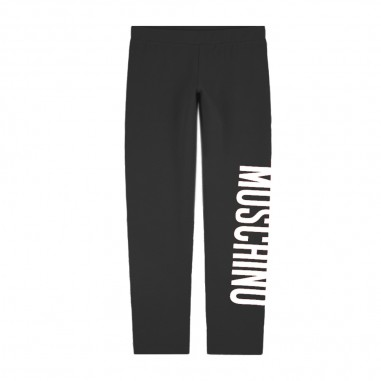 Moschino Kids Leggings Nero Logo - Moschino Kids h1p02rlba00-moschinokids20