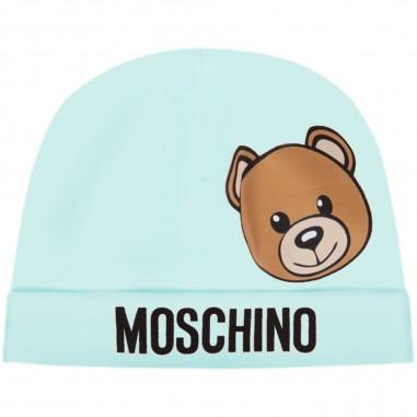 Moschino Kids Cuffia Celeste Neonati - Moschino Kids mqx031lba00-40304-moschinokids20