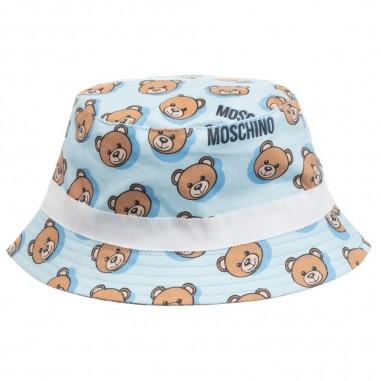 Moschino Kids Cappello Pescatore Celeste Neonati - Moschino Kids mzx032lmb04-84912-moschinokids20
