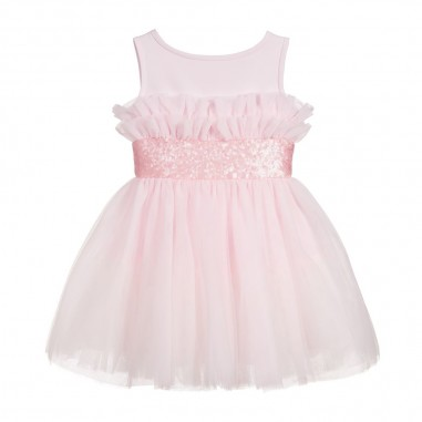 Monnalisa Girls Pink Dress - Monnalisa 715901-monnalisa20