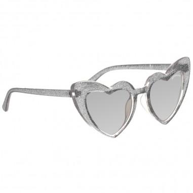 Monnalisa Girls Glitter Silver Sunglasses - Monnalisa 995031-0075-monnalisa20