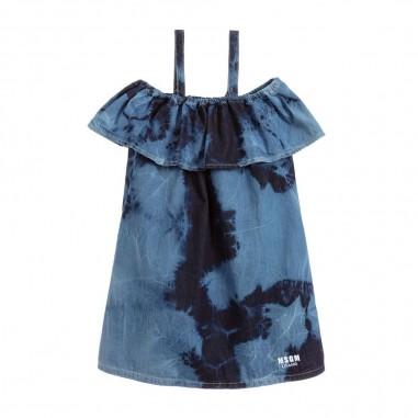 MSGM Girls Tie Dye Denim Dress - MSGM 022128-msgm20