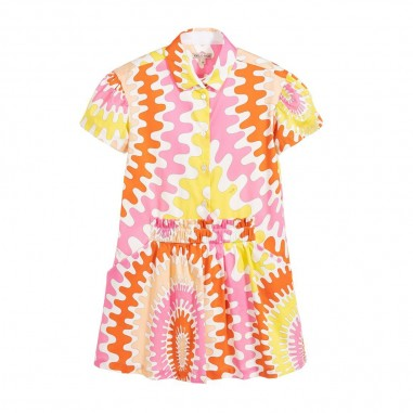 Emilio Pucci Junior Girls Patterned Dress - Emilio Pucci Junior 9m1181-mc840-100rs-pucci20