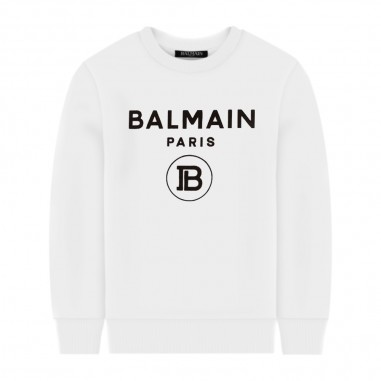 Balmain Kids White Sweatshirt - Balmain Kids 6m4760-mx270-100-balmainkids20