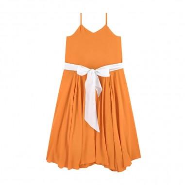 N.21 Kids Girls Orange Dress - N.21 Kids n2148k-n21kids20