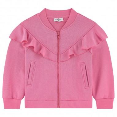 Monnalisa Girls Pink Sweatshirt - Monnalisa 195801sj-monnalisa20