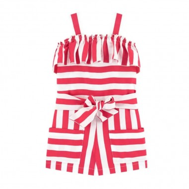 Monnalisa Girls Striped Playsuit - Monnalisa 115204-monnalisa20