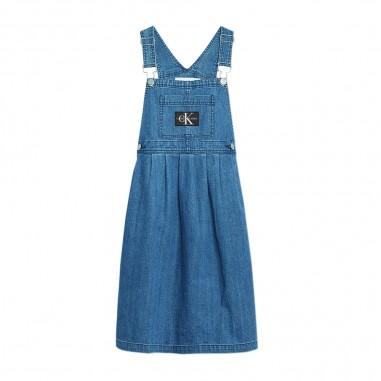 Calvin Klein Jeans Kids Abito Salopette Denim Bambina - Calvin Klein Jeans Kids ig0ig00374-calvinkleinjeanskids20