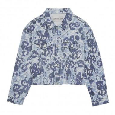 Calvin Klein Jeans Kids Girls Floral Denim Jacket - Calvin Klein Jeans Kids ig0ig00371-calvinkleinjeanskids20