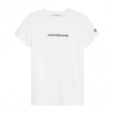 Calvin Klein Jeans Kids Top Bianco Bambina - Calvin Klein Jeans Kids ig0ig00387-calvinkleinjeanskids20