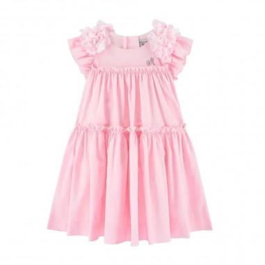 Monnalisa Girls Poplin Dress - Monnalisa 315933f5-0090-monnalisa20