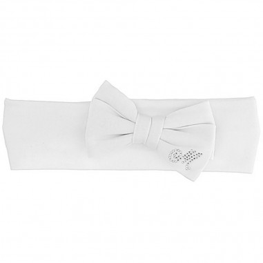 Monnalisa White Baby Girls Headband - Monnalisa 395003-0099-monnalisa20
