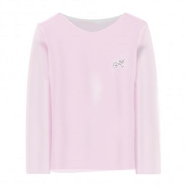 Monnalisa T-Shirt Velina Basic Bambina - Monnalisa 715611a1-0090-monnalisa20