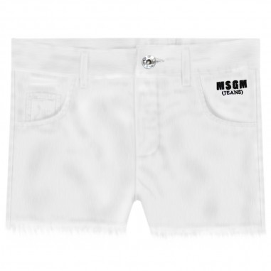 MSGM Shorts Bianco Bambina - MSGM 022382-msgm20