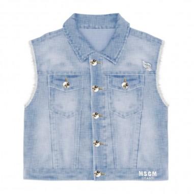 MSGM Gilet Jeans Bambina - MSGM 022418-msgm20