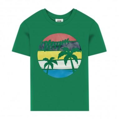 MSGM T-Shirt Verde Bambino - MSGM 022441-080-msgm20