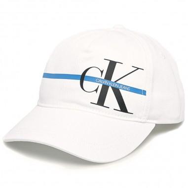 Calvin Klein Jeans Kids Cappello Bianco Monogram - Calvin Klein Jeans Kids iu0iu00101-calvinkleinjeanskids20