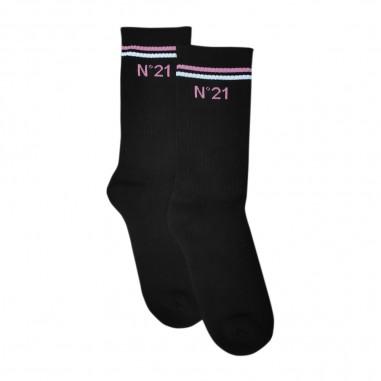 N.21 Kids Calzini Neri - N.21 Kids n214a4-0n900-n21kids20