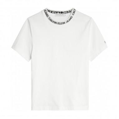Calvin Klein Jeans Kids T-Shirt Bianca Bambino - Calvin Klein Jeans Kids ib0ib00501-calvinkleinjeanskids20