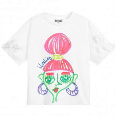 Moschino Kids Girls Graffiti T-Shirt - Moschino Kids hdm03elba00-moschinokids20