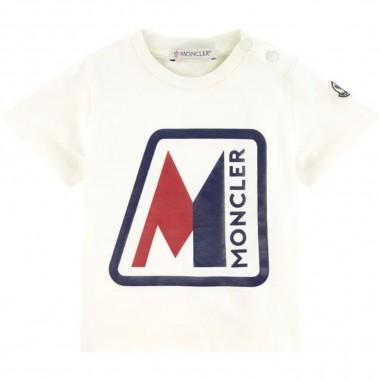 Moncler T-Shirt Jersey Neonato - Moncler Kids 8c700-20-8790a-moncler20