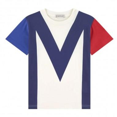 Moncler T-Shirt Logo Grande - Moncler Kids 8c703-20-83907-moncler20