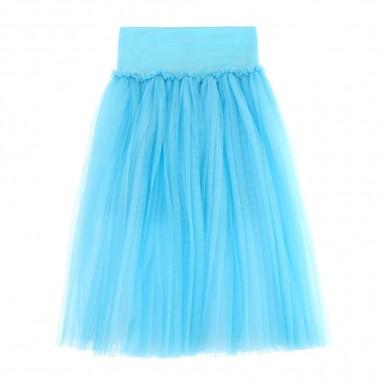 Monnalisa Girls Azure Tulle Skirt - Monnalisa 175702-0085-monnalisa20