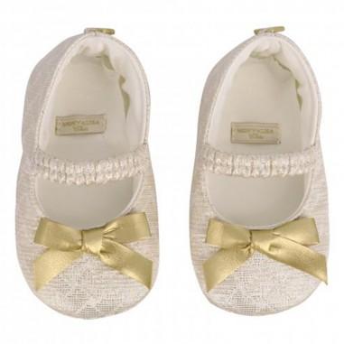 Monnalisa Girls Matelasse Lurex Baby Shoes - Monnalisa 735001-monnalisa20