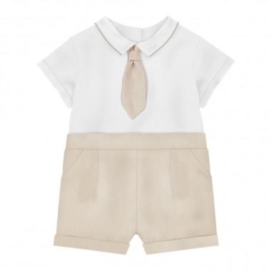 Le Bebé Pagliaccetto Bianco Neonato - Le Bebé lbb2663-lebebe20