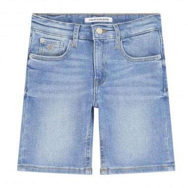 Calvin Klein Jeans Kids Bermuda Denim Slim Bambino - Calvin Klein Jeans Kids ib0ib00438-calvinkleinjeanskids20