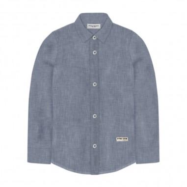 Paolo Pecora Boys Light Blue Linen Shirt - Paolo Pecora pp2335-paolopecora20