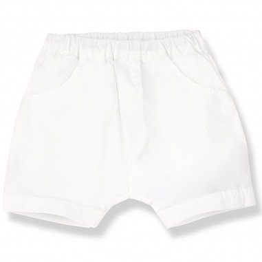 1+ In the Family White Baby Bermuda Shorts - 1+ IN THE FAMILY muro-bianco-onemoreinthefamily20