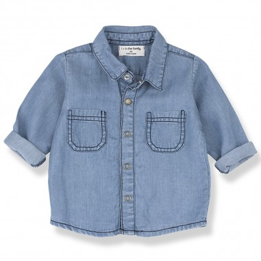 1+ In the Family Denim Baby Shirt - 1+ IN THE FAMILY formentera-onemoreinthefamily20