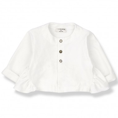 1+ In the Family White Baby Girl Jacket - 1+ IN THE FAMILY ginosa-bianco-onemoreinthefamily20