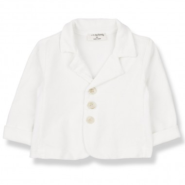1+ In the Family White Baby Jacket - 1+ IN THE FAMILY castro-bianco-onemoreinthefamily20