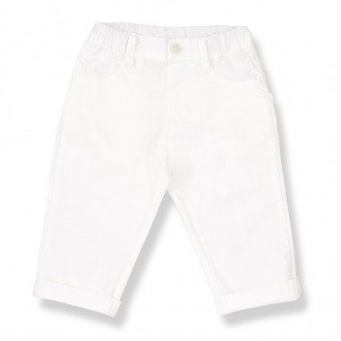 1+ In the Family Pantalone Bianco Neonato - 1+ IN THE FAMILY bonifacio-bianco-onemore20
