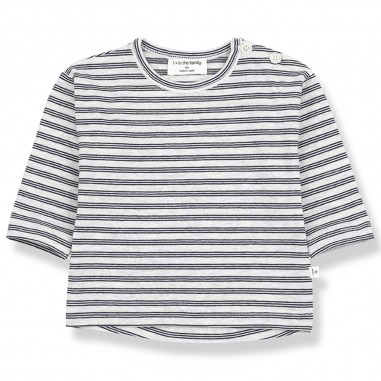 1+ In the Family Striped Long Sleeve Baby T-Shirt - 1+ IN THE FAMILY najac-onemoreinthefamily20