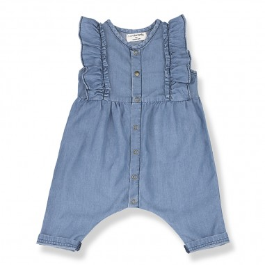 1+ In the Family Denim Baby Overall - 1+ IN THE FAMILY cabrera-onemoreinthefamily20