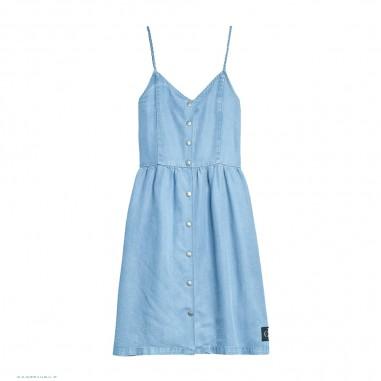 Calvin Klein Jeans Kids Girls Light Denim Dress - Calvin Klein Jeans Kids ig0ig00456-calvinkleinjeanskids20