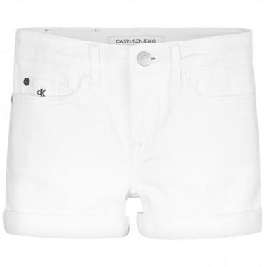 Calvin Klein Jeans Kids Short Bianco Bambina - Calvin Klein Jeans Kids ig0ig00446-calvinkleinjeanskids20