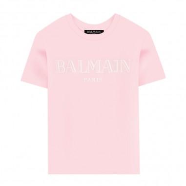 Balmain Kids Pink T-Shirt by Balmain Kids 6m8721-mx030-506-balmainkids20