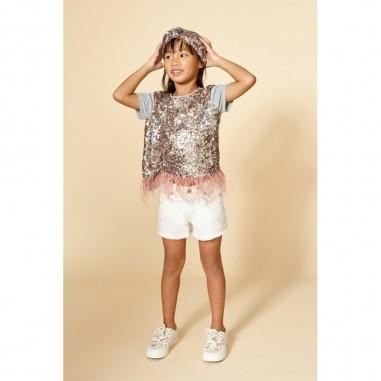 Dixie Kids Shorts Bianco Bambina - Dixie Kids RB58F87G23-dixiekids20